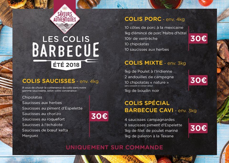 Affiche colis barbecue